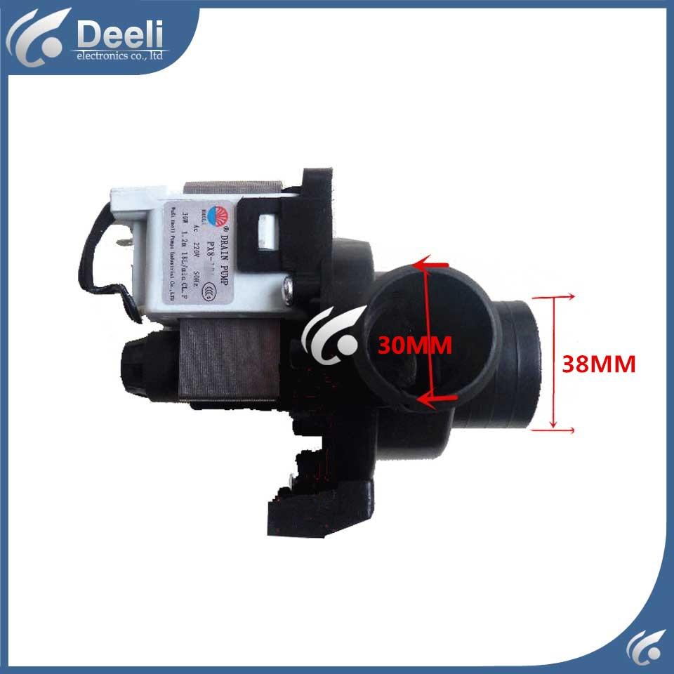 used drain pump PX-2-35 XQG50-146 XQG50-156/166/356/456 35W drain pump motor good workin наклейки tony 2 74 alfa romeo mito 147 156 159 166 giulietta gt