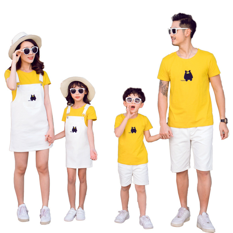 Family Clothing Father and Son T shirt and Pants Family Clothes Sets Family Matching Outfits Striped Mother Daughter Dresses