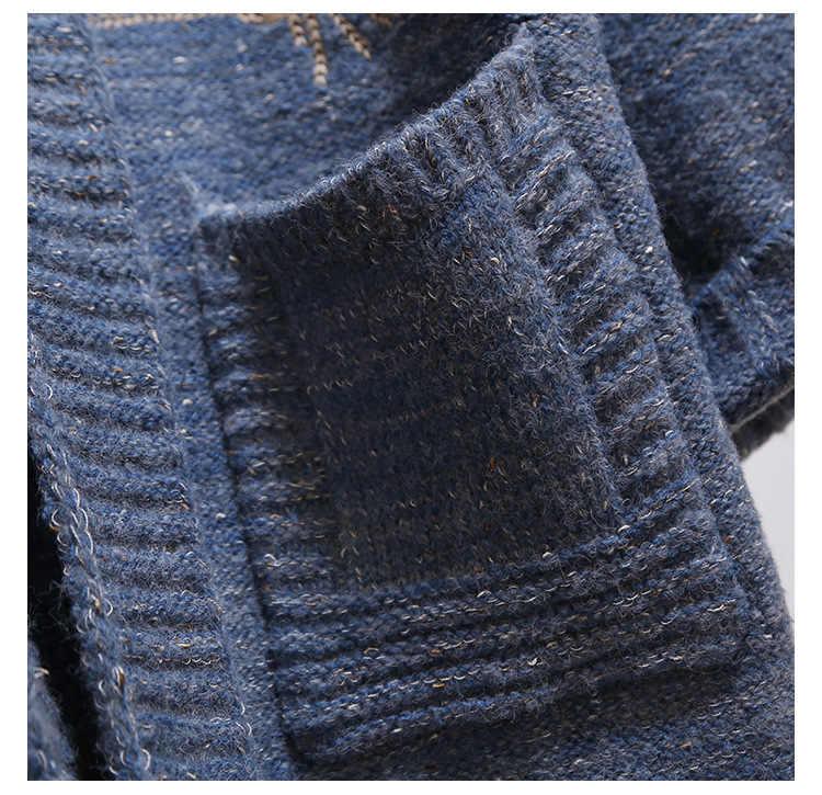 2019 новый длинный кардиган с вышивкой, теплый зимний женский свитер, вязаный женский пиджак, высококачественные повседневные женские свитера