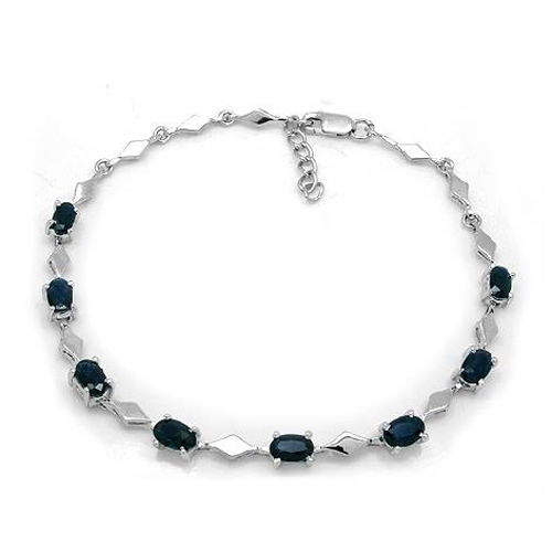 2017 New Qi Xuan_Free Mail Dark Blue Stone Elegant Bracelets_S925 Solid Silver Fashion Bracelets_Manufacturer Directly Sales