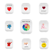 Get more info on the Airpods case Cute for airpods 2 cover Cartoon protective hard case transparent wireless earphone case For iphone Headphone case