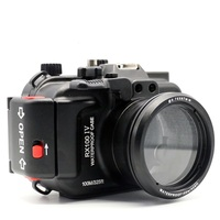 Aluminum Camera Housing for Diving 100M/325ft Underwater Waterproof Aluminum Camera Case for Sony RX100 IV / RX100 M4