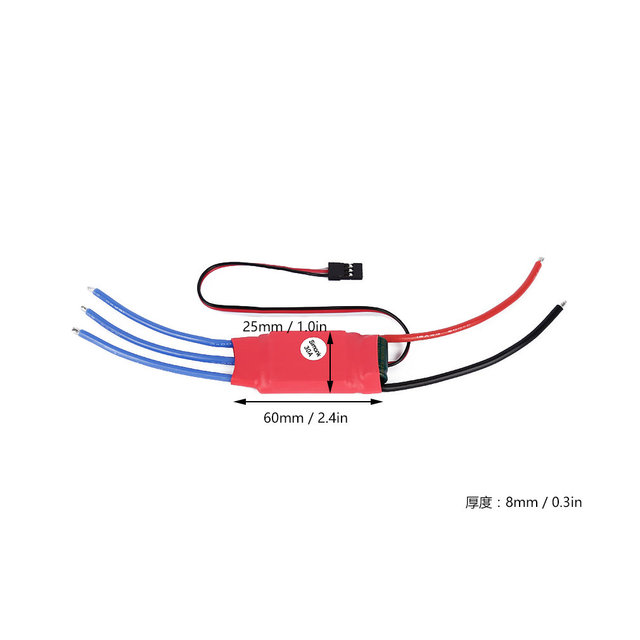 30AMP 30A SimonK Brushless ESC Firmware w/ 3A 5V BEC for RC Quad Multi Copter Quality New Hot!