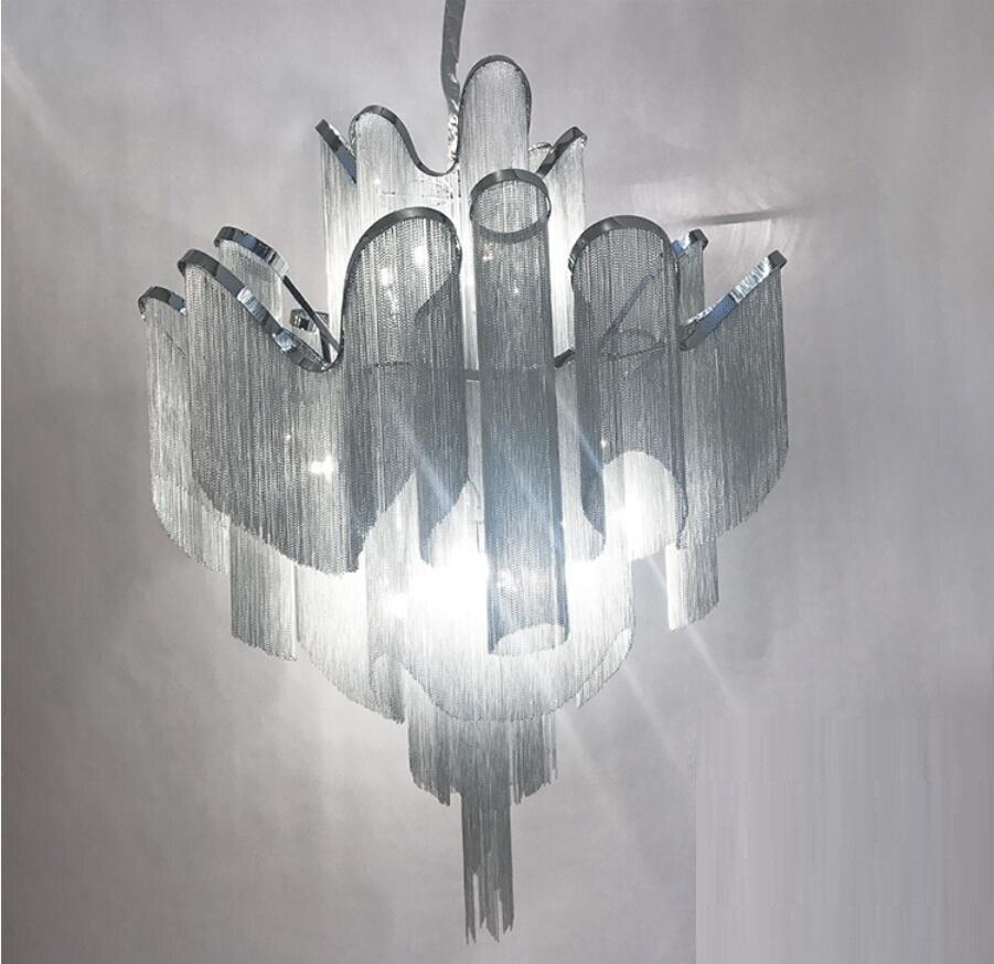 Akışı püskül projesi ışık alüminyum zincir vintage el - İç Mekan Aydınlatma - Fotoğraf 3
