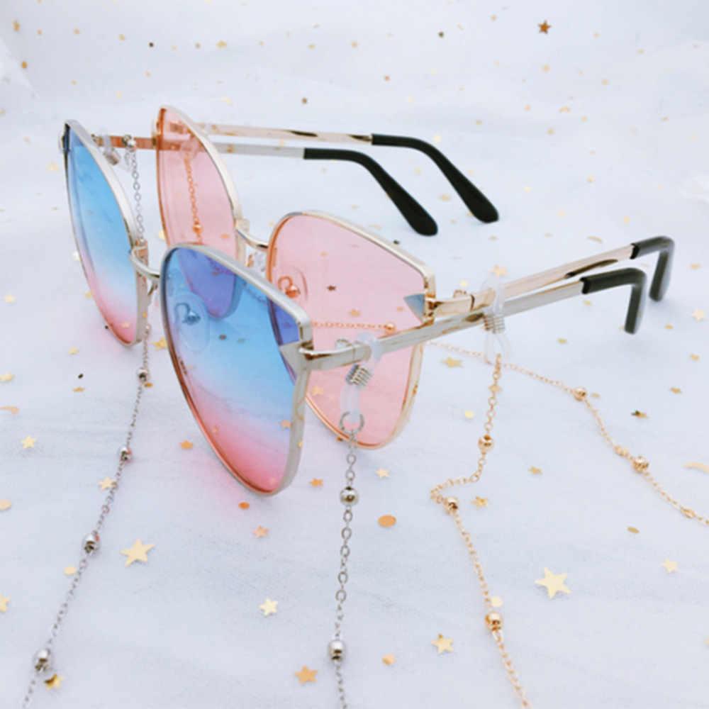 ファッションシックなレディースゴールドシルバー眼鏡チェーンサングラス読書ビーズメガネチェーン Eyewears コードホルダーネックストラップロープ