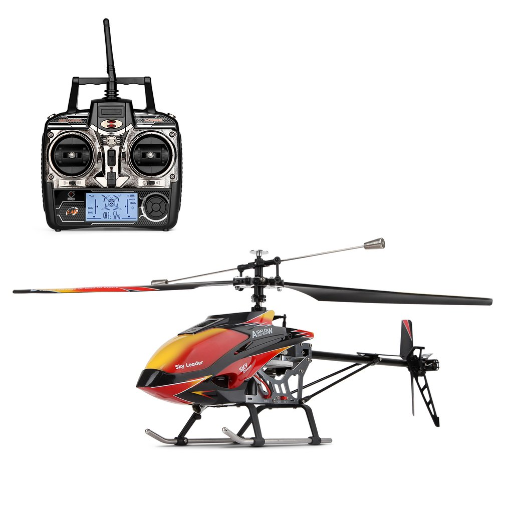 Wltoys V913 Brushless motor RC Helicopter 2.4G 4CH Single Blade Built-in Gyro Super Stable Flight High efficiency RC Helicopters