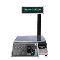 Escala eléctrica de cálculo de precios DIGI SM100PCS con impresora de código de barras para minoristas  nuevo Balance de escala de impresión Digital de etiquetas SM110P