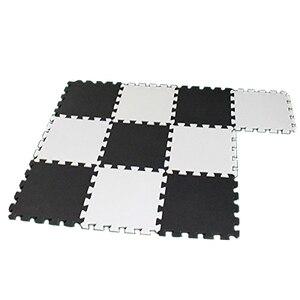 10 Piece Eva Foam Puzzle Exercise Mat Interlocking Floor Tiles -- White and Black(China)