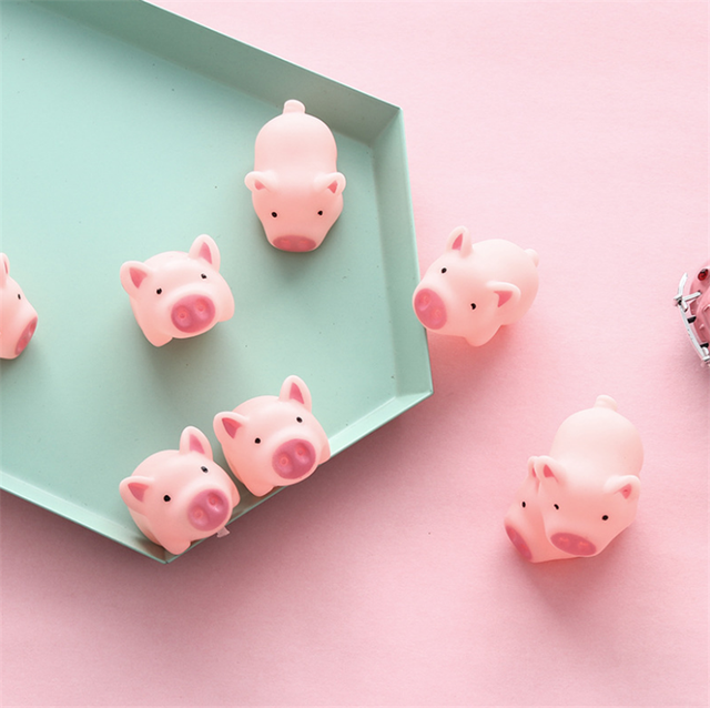 1 pz New Sveglio 5 cm Giocattoli Del Cane Rosa di Gomma di Grido Pig Giocattoli