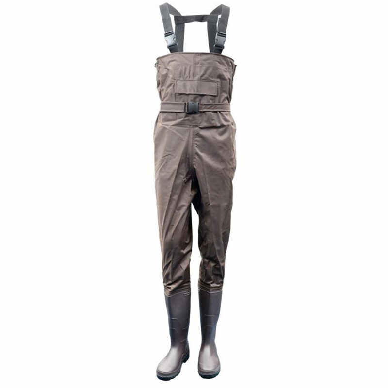 Ultra-thin 0.34mm Fishing Waders Waterproof 700D Nylon+PVC Breathable Chest Height Overalls Pocket+Belt Design Fishing Waders