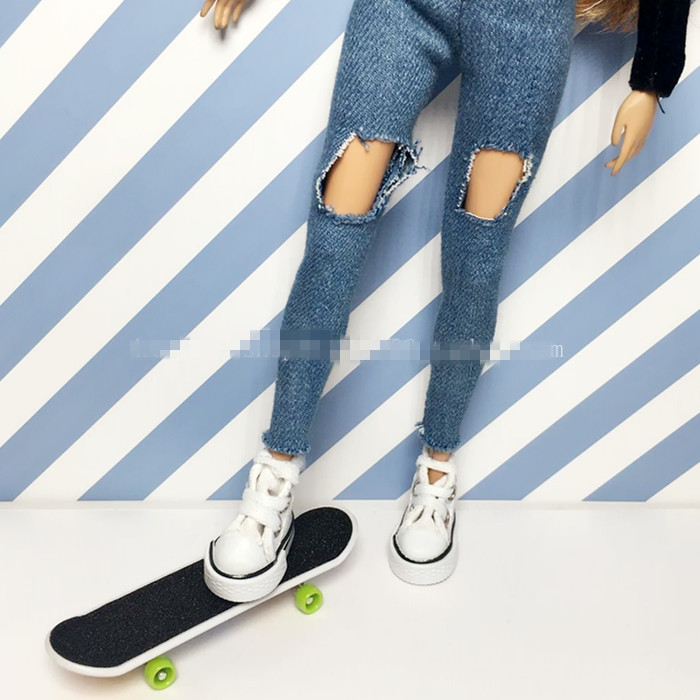 2pcs/lot Fashion 1/6 Doll Props Accessories Mini Doll Skateboard Blyth Accessories For Barbie