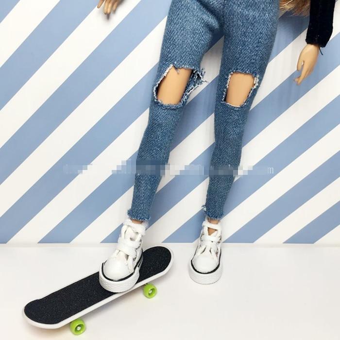 2pcs/lot Fashion 1/6 Doll Props Accessories Mini Doll Skateboard Blyth Accessories For Barbie