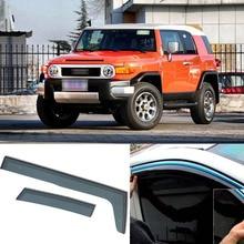 Jinke 4pcs Blade Side Windows Deflectors Door Sun Visor Shield For Toyota FJ CRUISER 2007-2013