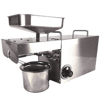 110V 220V Temperature Control Commercial Stainless Steel Oil Press Machine Nut Seed Automatic Oil Pressure High