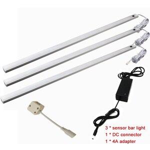 Image 2 - Lámpara led de 50CM con Sensor de movimiento PIR, luz nocturna para debajo del armario, armario, 12V CC, Blanco/blanco cálido