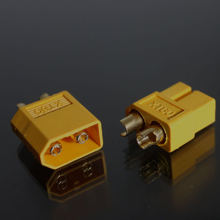 Free shipping 50 pcs bag XT60 Bullet plug connectors male and female for RC lipo battery