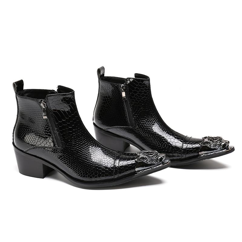 2018 ใหม่ Handmade Pointed Toe โลหะลูกไม้ Spikes Slip บนรองเท้า Evenig งานแต่งงานขนาดรองเท้า 37  46-ใน รองเท้าบูทแบบเบสิก จาก รองเท้า บน   1
