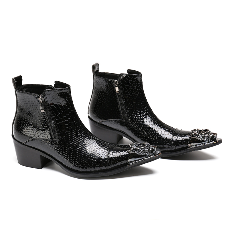 2018 새로운 수제 지적 발가락 금속 팁 레이스 스파이크 슬립 드레스 신발 evenig 파티 웨딩 구두 크기 37 46-에서기본 부츠부터 신발 의  그룹 1