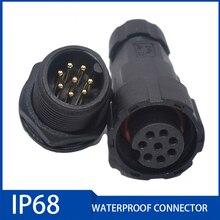 1PC IP68 Waterproof Connector 15A 2pin 3pin 4pin 5pin 6pin 7pin 8pin Mechanical Equipment Signal Connector CQC UL Certification 20pcs connector shell 1pin 2pin 3pin 4pin 5pin 6pin 7pin 8pin 9pin 10pin single row 2 54 mm through hole housing jumper wire