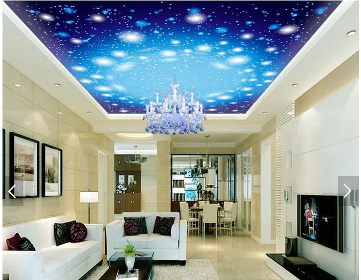 3d Fototapete Benutzerdefinierte 3d Decke Tapete Romantische Sternenhimmel  Zenit Wohnzimmer Decke Wandbilder 3d Wohnzimmer Tapete In 3d Fototapete ...