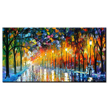 Pop Art landscape Pictures 100% Hand Painted Modern Abstract Oil Paintings On Canvas Wall For Home Decoration