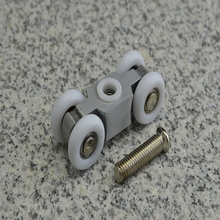 free shipping door roller ultra-quiet wooden door sliding door pulley hanging rail track nylon wheel glass bearing door hardware whism 8 pcs lot stainless steel sliding door wheel cabinet nylon wheels hanging wheel parts door rollers door hardware