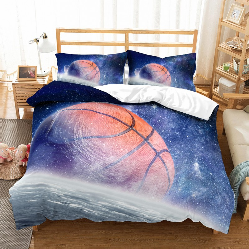 Hot Basketball Sport Style Bedding Set 2/3 pcs Duvet Cover Pillowcases Bed Clothes Comforter Covers Bed Sets 3D Digital Printing