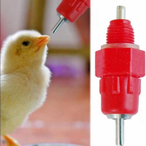 20 Pcs Chicken Duck Hen Screw In Poultry Water Nipple Drinker Feeder 360 Degree