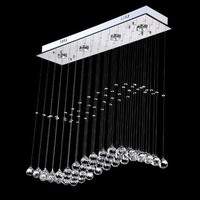 Rain Drop Wave S K9 Crystal Lamp Modern Crystal LED Ceiling Light For Restaurant Living Room