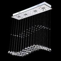 Rain Drop Wave S K9 Crystal Lamp Modern Crystal LED Ceiling Light For Restaurant Living Room