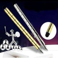 Fidget PEN Polar Capacitor Magnet Think Ink Pen Toy Stress Wheel Fidgets Fingers Spinner Autism Spiner