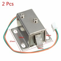 High Quality 2Pcs Small 27x29x18mm 12VDC Cabinet Door Drawer Electric Lock Assembly Solenoid Lock Durable In