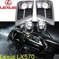 Автомобиль для укладки, Lexu LX570 туман свет, 2 шт., Галогенные, LX570 туман лампы, Свободный корабль! LX 570
