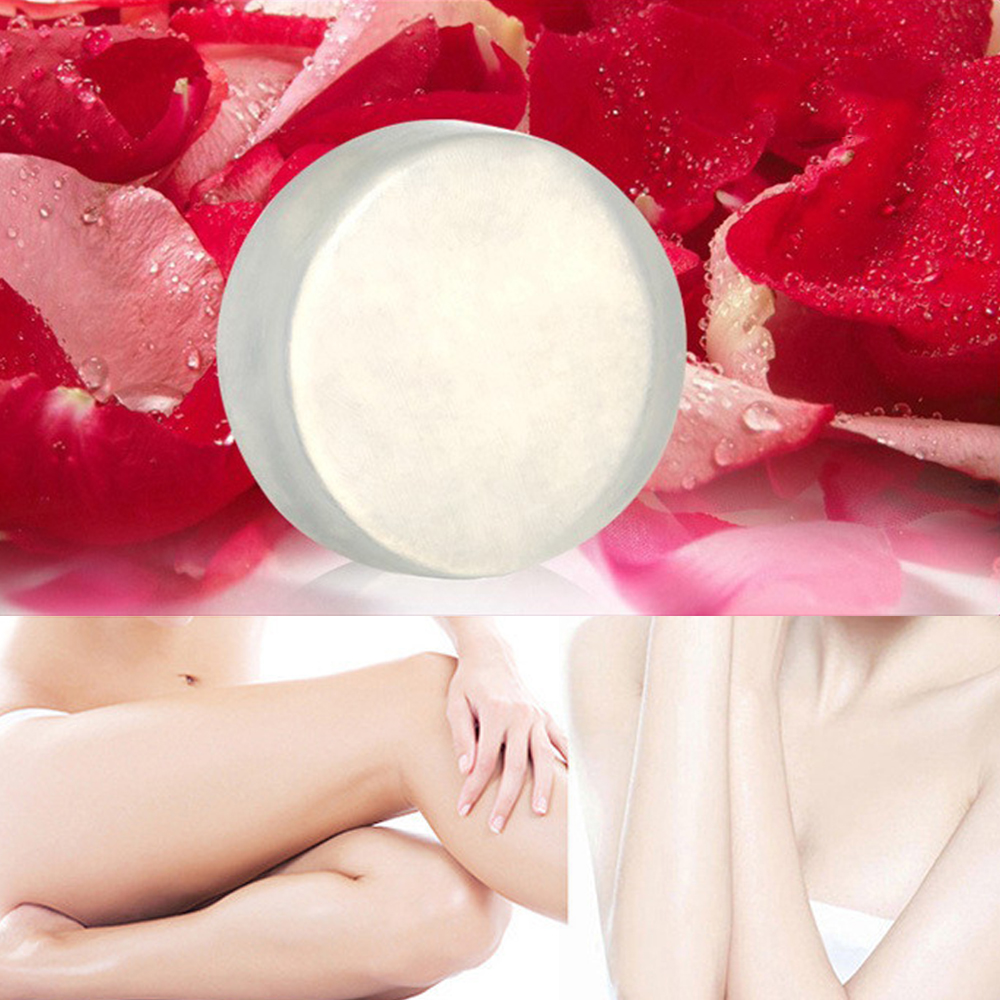 Whitening Soap Natural Active Enzyme Plant Extract Nipple Intimate  Enzyme Crystal Bath Transparent Shower Bleaching Soap TSLM1