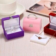 Роскошные Ювелирные Изделия Квадратная подарочная коробка женские серьги кольца упаковка ювелирных изделий дисплей макияж хранения Органайзер маленькая коробка пластик contai