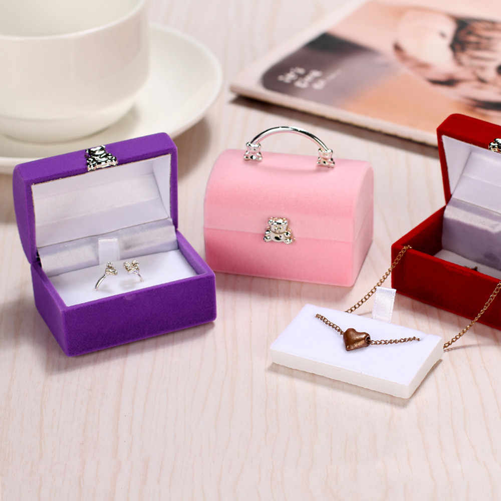 Luxury Jewelry Square Gift Box Women Earrings Rings Jewelry Packaging Display make up storage organizer small box plastic contai