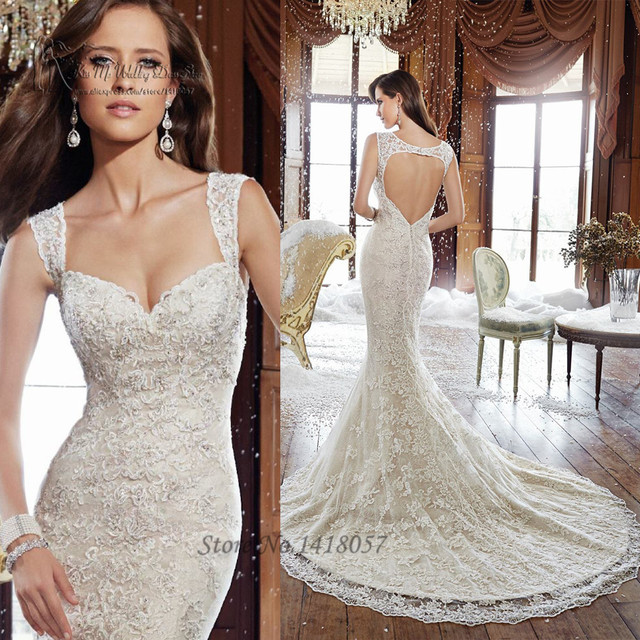 Aliexpress.com : Buy Elegant Ivory White Mermaid Wedding Dresses ...