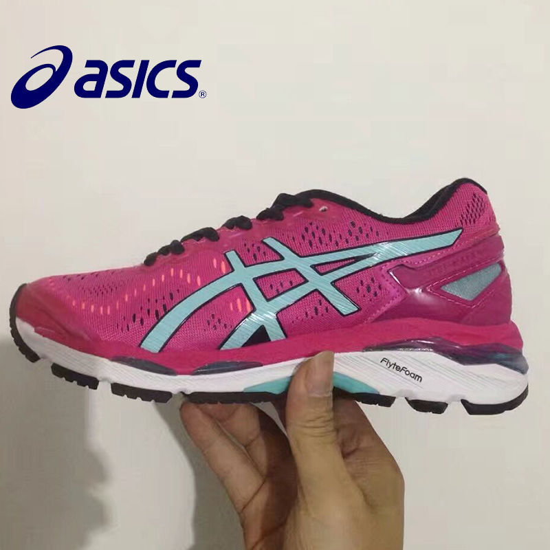 2018 ASICS GEL-KAYANO 23 T646N Woman's Shoes Breathable Stable Running Shoes Outdoor Tennis Shoes Hongniu