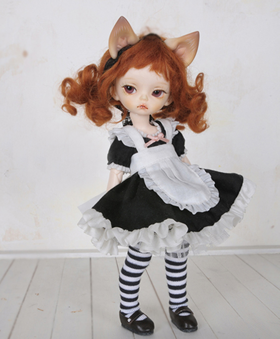 1 bjd doll BB baby Lucy cat ears