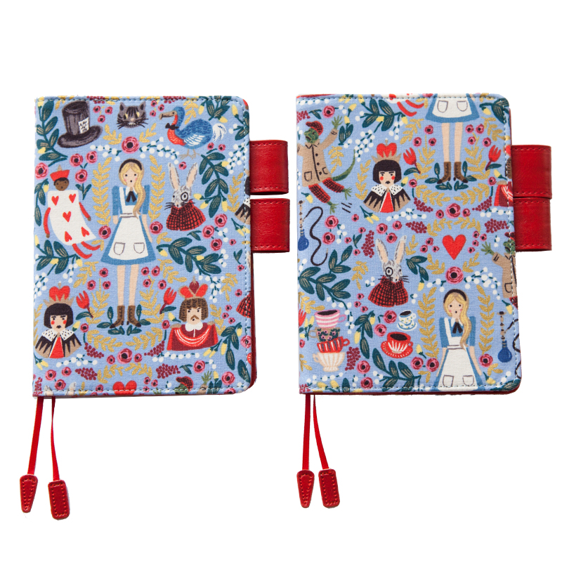 Hello Alice Cute A6 Hobonichi Style Journal Cover Suit For Standard A6 Fitted Paper Book the mystery universe design fitted journal cover hobonichi style cover a5 a6 suit for standard a5 a6 paper book