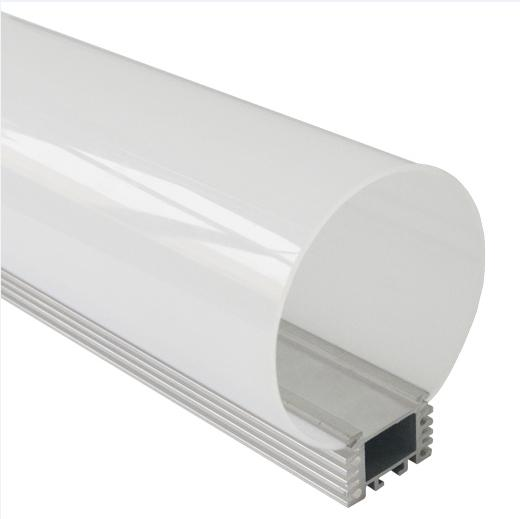 Diameter 80mm round aluminum led profile led linear strip light holder with opal matte diffuser 10m/lot DHL free shipping