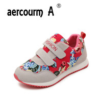 Aercourm A Children Sports Shoes Kids Casual Shoes Children Sneakers Printing Floral Spring Autumn Canvas Girls