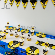 Party supplies 50pcs for 8kids Batman birthday party tableware set plate +cup+straw+tablecover+banner+wrapper+invitation & Popular Batman Paper Plates-Buy Cheap Batman Paper Plates lots from ...