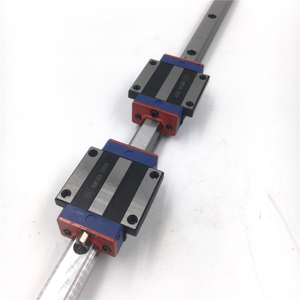 HGR15 15mm Linear Guideway Linear Rail Guide L=1000mm + 2pcs Flange Rail Carriage Block HGW15CC Replace HIWIN for CNC X Y Z Axis ball linear rail guide roller shaft guideway toothed belt driven