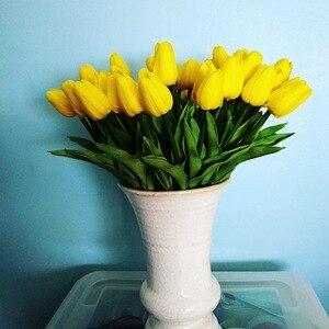 Image 3 - 10 sztuk tulipan sztuczny kwiat prawdziwy dotyk sztuczny bukiet sztuczny kwiat na dekoracje ślubne w kształcie kwiatów wystrój domu Garen