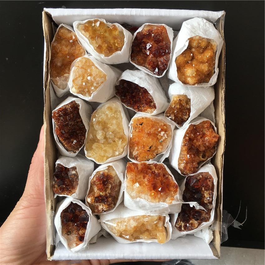 다른 천연 황수정 석영 크리스탈 보석 클러스터 명상 reiki 치유 크리스탈 치유 선물로 에너지를 제공합니다-에서돌부터 홈 & 가든 의  그룹 1