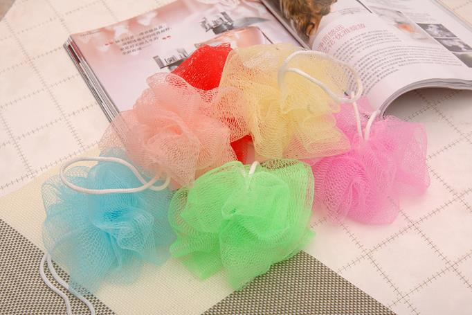 Wholesales Colorful flower bath ball /bath rubbing cloth towel bath bubble 10pcs/Lot color random