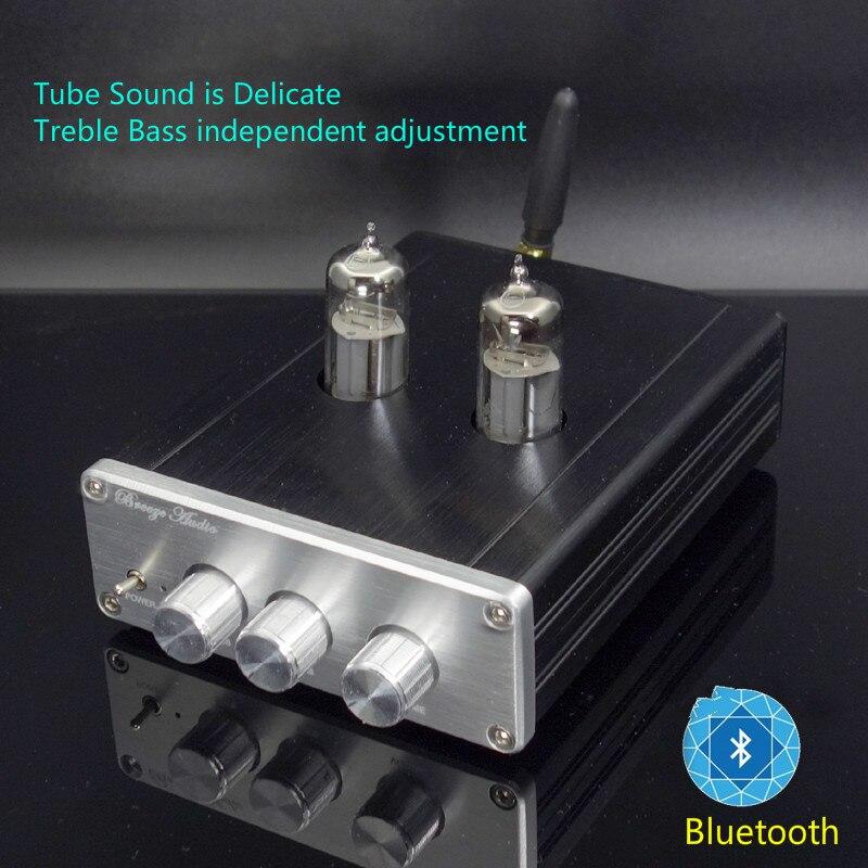 Bluetooth 6J5 Tube Préamplificateur Machine Bile Préampli Vanne Électronique Ton Agrandir NE5532 Aigus Basse Haut-Parleur Amplificateur DIY New