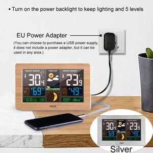 Image 3 - FanJu Weerstation Digitale Klok Muur Alarm Draadloze Sensor Thermometer hygrometer Barometer Weerbericht Tafel Desktop FJ3378