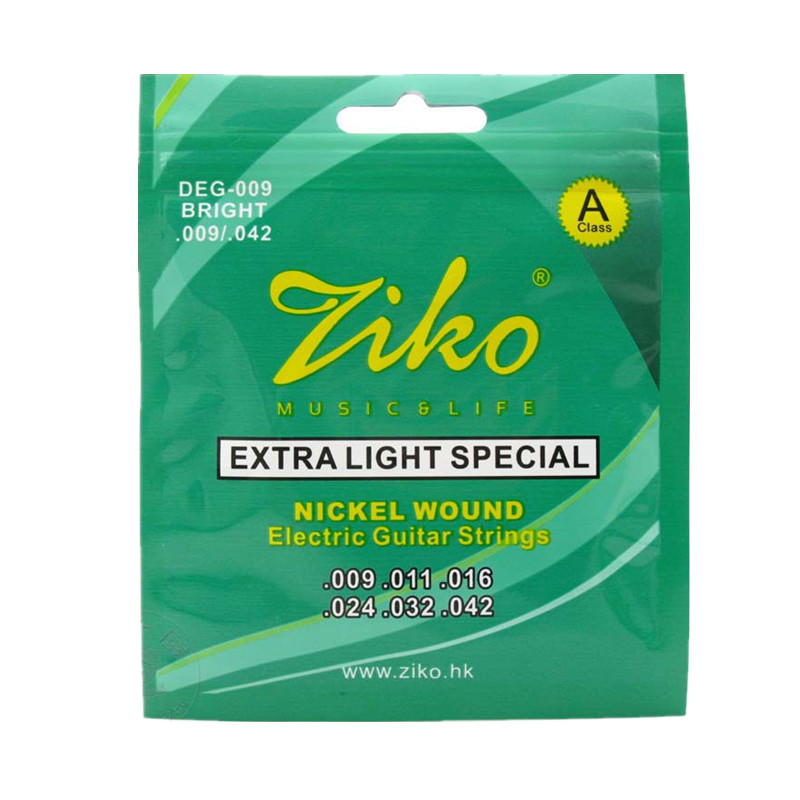 Ziko Electric Guitar Strings Set Extar Light Soft Guitar Strings Electric 009-042 Strings For Guitar Parts DEG009